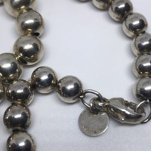 Authentic Tiffany &Co 925 Silver Ball Necklace